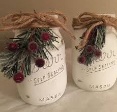 Mason Jars Decorated For Christmas Image d'épingle Decoration Pinterest Mason jar christmas 53