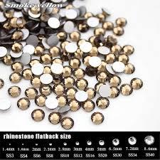 non heat transfer ss3 to ss30 smoked topaz ab hot fix rhinestones 288 1440pcs ss3 ss34 flatback glass strass