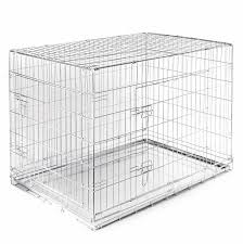 amazoncom  smithbuilt folding double door cage metal dog crate