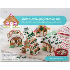 Ideas using gingerbread christmas home decorations Diy Wilton Buildityourself Gingerbread Mini Village Decorating Kit 4house Set Walmartcom Walmart Wilton Buildityourself Gingerbread Mini Village Decorating Kit