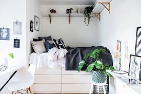Storage Ideas For Small Bedrooms. Dresser Bed Closer Look