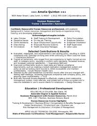 Resume Sample For Human Resource Position Entry Level Hr Resume Resume Badak 11