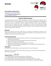 Linux Administrator Sample Resume Custom Linux Administration Sample Resumes Dadajius