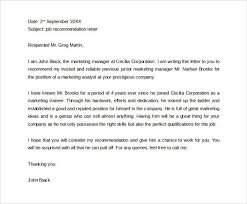 letter for job recommendation personal letter of recommendation for employment letters font