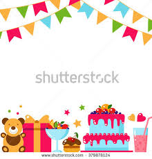 free happy birthday template happy birthday template card flat vector stock vector hd royalty