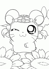 Manga Coloring Scbu Hamtaro Manga Coloring Pages For Kids Printable