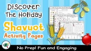 After throwing the dice, the kid will choose an animal and color and every. Shavuot Holiday No Prep Activity Pages For Kids 13 Activities In 4 Pages Youtube