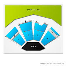 Ford Amphitheater Seating Chart Gerald Ford Amphitheatre 2019 Seating Chart