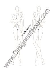 V46 Front Pose Female Fashion Figure Templates For Fashion