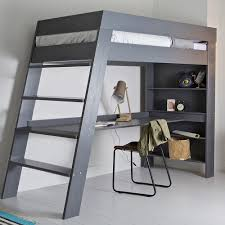 kids loft bed with desk. Kids-Grey-Loft-Bed-with-Desk.jpg Kids Loft Bed With Desk K