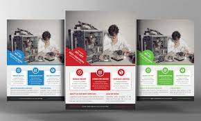 Computer Repair Flyer Template Inspiration 48 Computer Repair Service Flyers PSD Template Simple Download