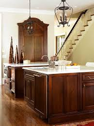 dark wood kitchen cabinets. Simple Dark ENLARGE DarkStained Maple Cabinets Throughout Dark Wood Kitchen
