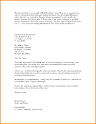 Ideas Of Full Block Style Business Letter Template About Format
