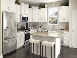 White Kitchen Cabinets Gray Granite Small Ideas Island Electric