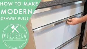 Custom Cabinet Pulls How To Make Cheap Modern Drawer Pulls Youtube
