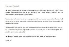 How To Write A Termination Letter To An Employer employer termination letter sample] How Write Termination Letter 48