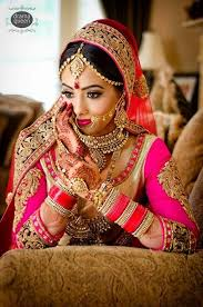 gorgeous indian bride indian bridal makeup pink wedding lehenga