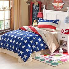 trendy blue and white stars themed cotton bedding set 1 600x600 trendy blue and white