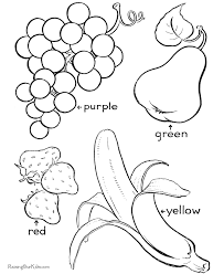 Small Picture Printable fruit coloring pages free printable fruit coloring pages