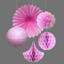 Party Decorations Tissue Paper Balls Pink Shades Pink Kit Party Decoration Tissue Paper Pom PomsFans 37
