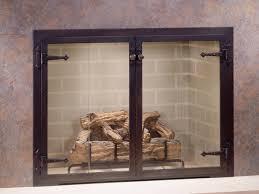 image of modern fireplace doors concept