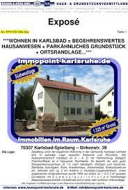 Exposé Az Efh Doc Seite 1 Wohnen In Karlsbad