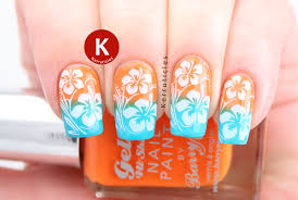 Hawaiian Hibiscus Stamped Gradient: Tropical: GOT Polish Challenge ...