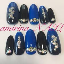メルカリ 青 黒 グラデーション ネイルチップ ネイルチップ付け爪