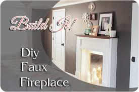 diy faux fireplace feature 1