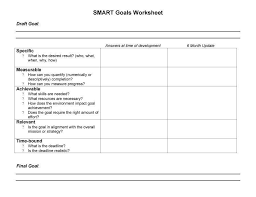 Smart Goals Template Smart Goals Template Smart Goals Worksheet Goals