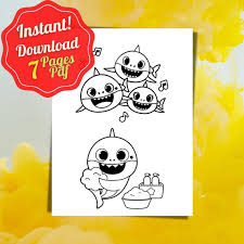 For kids & adults you can print baby shark or color online. Baby Shark Coloring Pages Mom Wife Busy Life