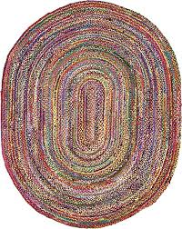 oval rugs 8 10 contemporary multi 8 x 10 braided chindi rug area erugs throughout 9