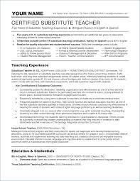 14 15 Long Term Substitute Teacher Resume Sangabcafe Com