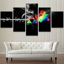 inspirational design ideas wall art posters modular pictures home decor canvas 5 pieces pink floyd rock music painting living uk on rock wall art uk with lofty design ideas wall art posters youtube uk australia canvas