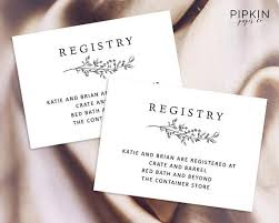 Wedding Registry Cards Wedding Registry Card Enclosure Card