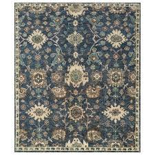 denim blue medallion pattern jute rug