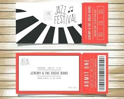 Concert Invite Template Concert Ticket Invitations Agarvain Org