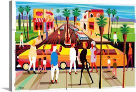 el paseo palm springs wall art canvas