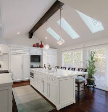 kitchen lighting modern. Kitchen Cathedral Ceiling House One Story Plans Lighting Vaulted Cabinets . White With Modern K