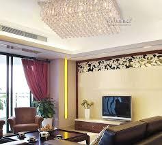 led bulbs crystal chandelier square rectangle shaped raindrop ceiling light lamp lighting 110v 220v pendant lampshades art glass pendant light from