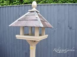 bespoke handcrafted bird feeder table