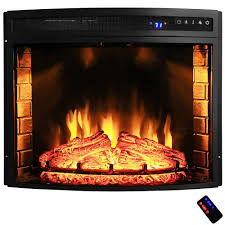 akdy 28 in freestanding electric fireplace insert heater for inspiring electric logs for existing fireplace