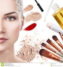 makeup s near beautiful woman s face