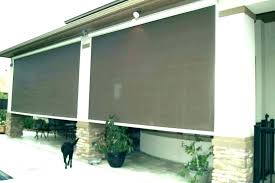 canvas shades for patios outdoor fabric patio blinds hunter shade offer an accessible roll up and
