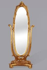 oval shape framed standing mirror c31
