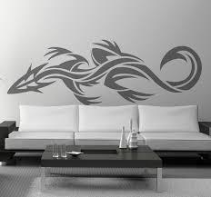 tribal gecko wall art sticker