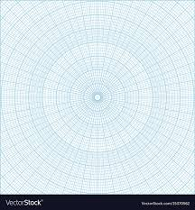 Polar Coordinate Circular Grid Graph Paper