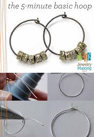 learn how to make jewelry with this free diy hoop earrings project