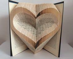 Folded Book Art Recycled Book Valentine by heyjude6459