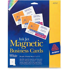 avery magnetic business cards x white sheet pack avery magnetic business cards 2 x 3 1 2 white 10